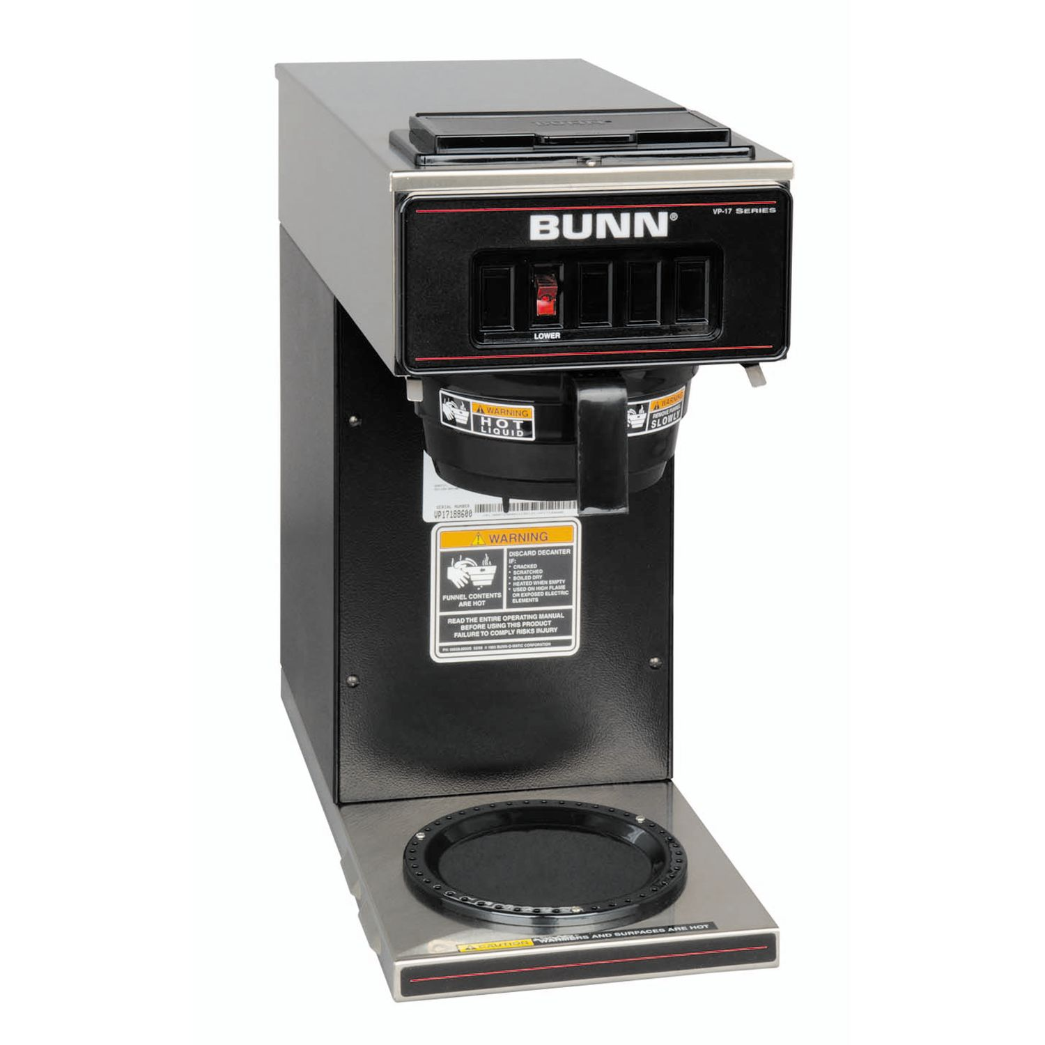 vp17 1 (1 lower warmer) coffee bunn commercial site Columbia Wiring Diagram